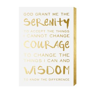 Serenity Prayer Textual Art on Manufactured Wood by House of Hampton