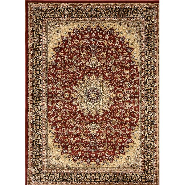 Medeiros Red/Brown Area Rug by Astoria Grand