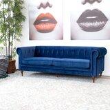 Eddins Velvet 87 Rolled Arm Sofa by Mercer41