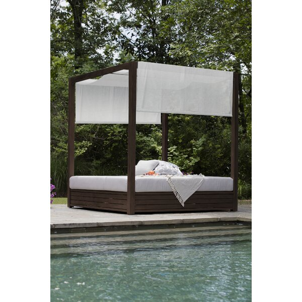 Cayman Canopy Patio Daybed with Cushions by Summer Classics
