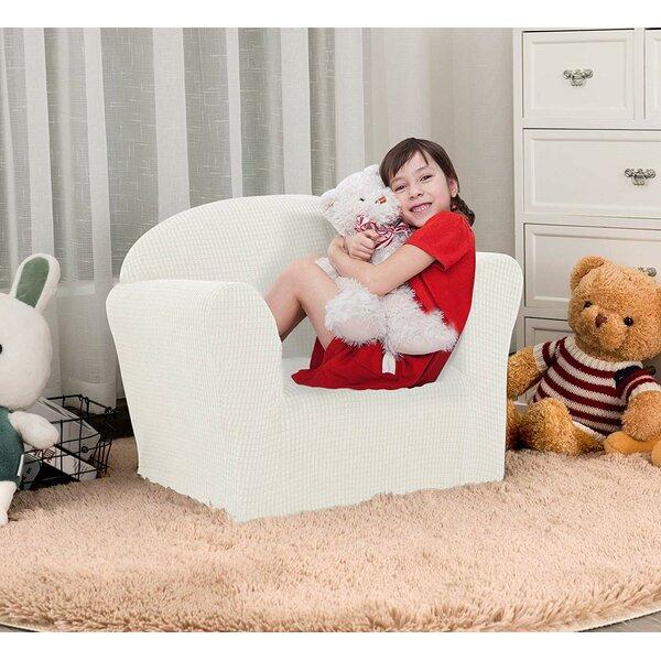 Soft Stretch Children Kids Box Cushion Armchair Slipcover By Harriet Bee