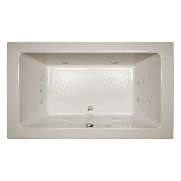 Sia Illuma Right-Hand 72 L x 42 W Drop In Whirlpool Bathtub by Jacuzzi®