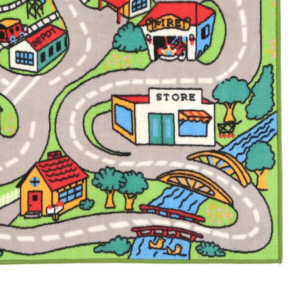 Fun Time Country Road Indoor/Outdoor Area Rug by Fun Rugs