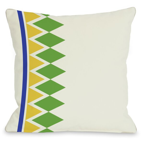 Asymmetrical Diamonds Throw Pillow by One Bella Casa