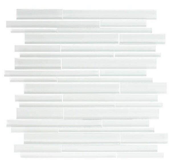 Linear Random Sized Glass Mosaic Tile in White by Susan Jablon