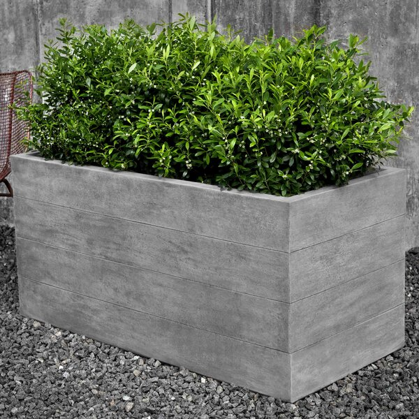 Chênes Brut Cast Stone Planter Box by Campania International