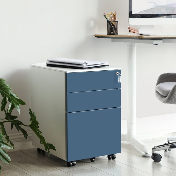 Brynjolf 3-Drawer Mobile Vertical Filing Cabinet