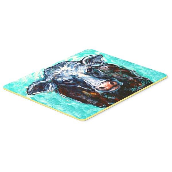 Seabury Moo Cow Rectangle Non-Slip Does Not Apply Bath Rug