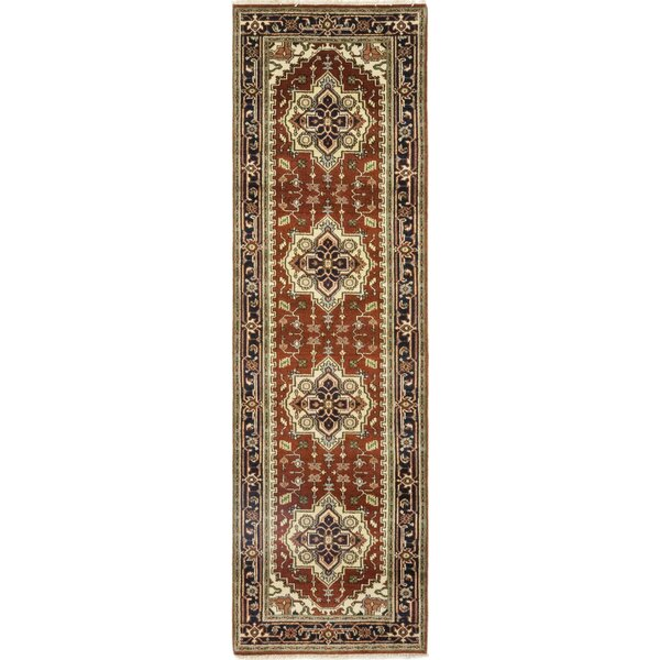One-of-a-Kind Cort Hand-Knotted Wool Brown/Beige Indoor Area Rug by Astoria Grand
