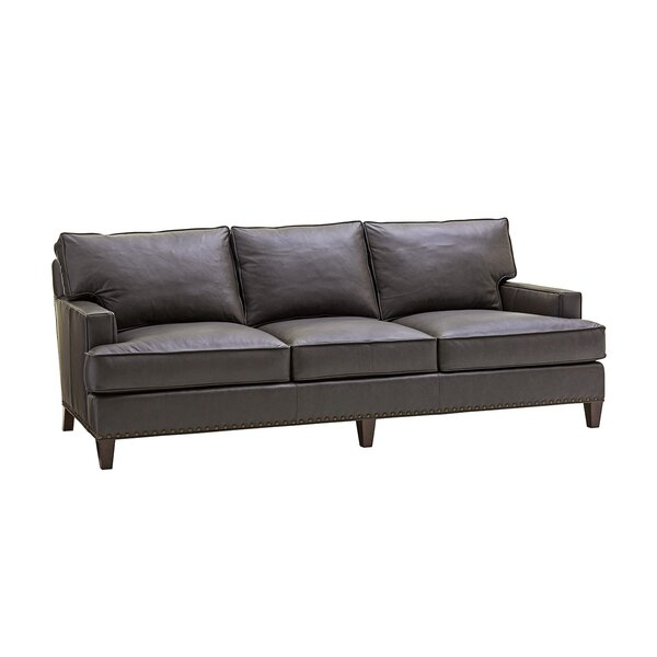 Zavala Hughes Leather Sofa by Lexington