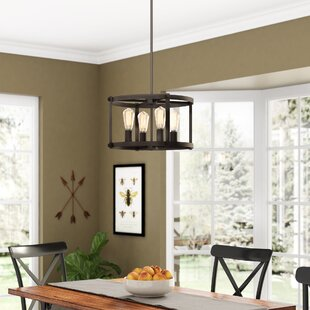 Dunnstown Farmhouse 4 Light Drum Chandelier