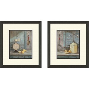 Kitchen Grams Recipe 2 Piece Framed Painting Print Set by PTM Images