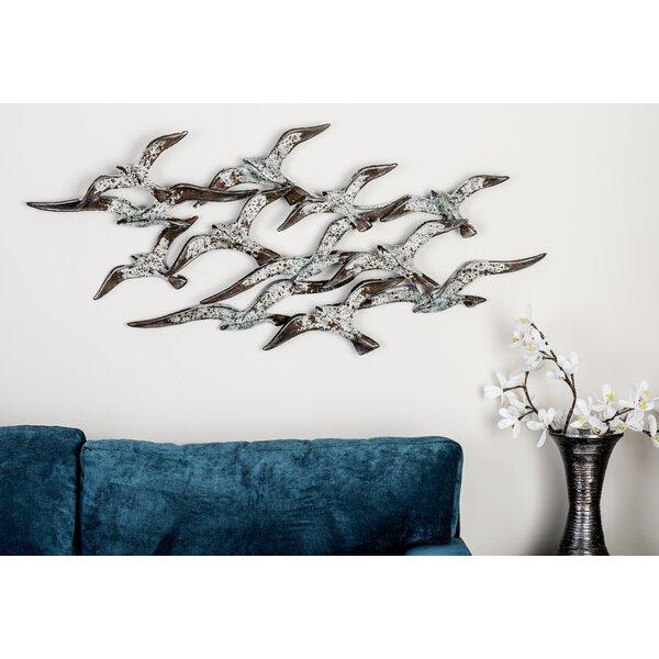 Metal Flock Birds Statue by Cole & Grey