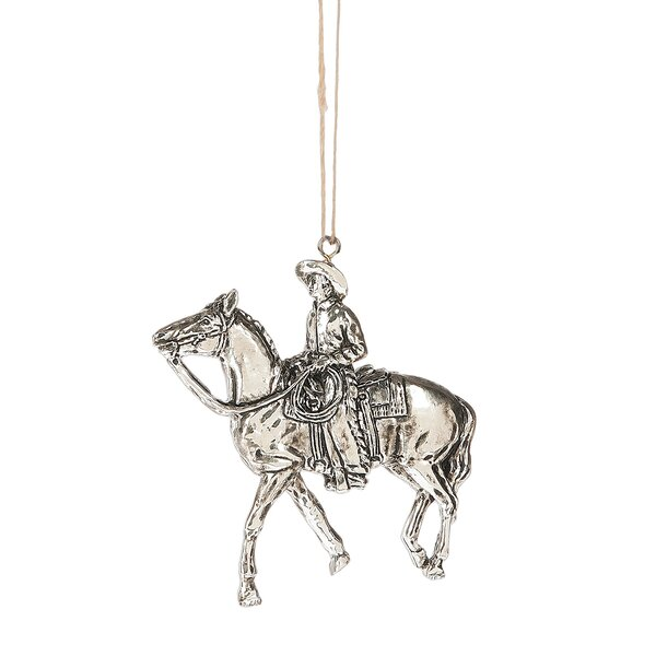 Cowboy Riding a Horse Hanging Figurine by Loon Pea