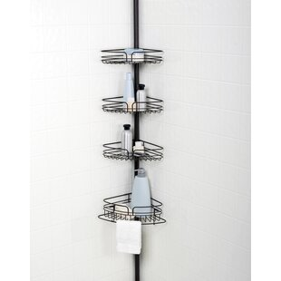 Beau Tub And Shower Tension Pole Corner Shower Caddy