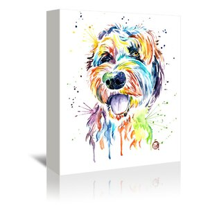 'Golden Doodle' by Lisa Whitehouse Graphic Art on Wrapped Canvas by East Urban Home