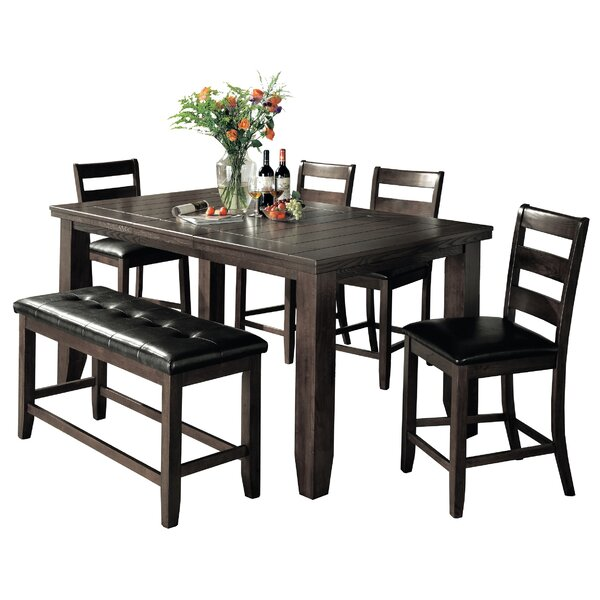 Bridlewood 6 Piece Counter Height Dining Set by Loon Peak