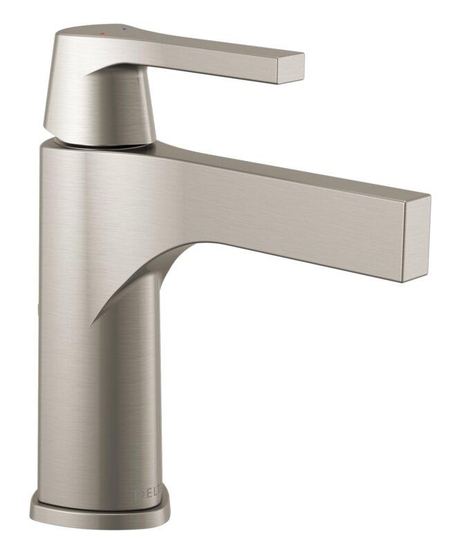 Delta Single Handle Bathroom Faucets delta zura single handle bathroom faucet & reviews | wayfair