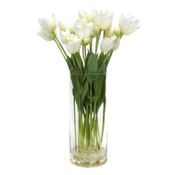 Tulips in Glass by Dalmarko Designs