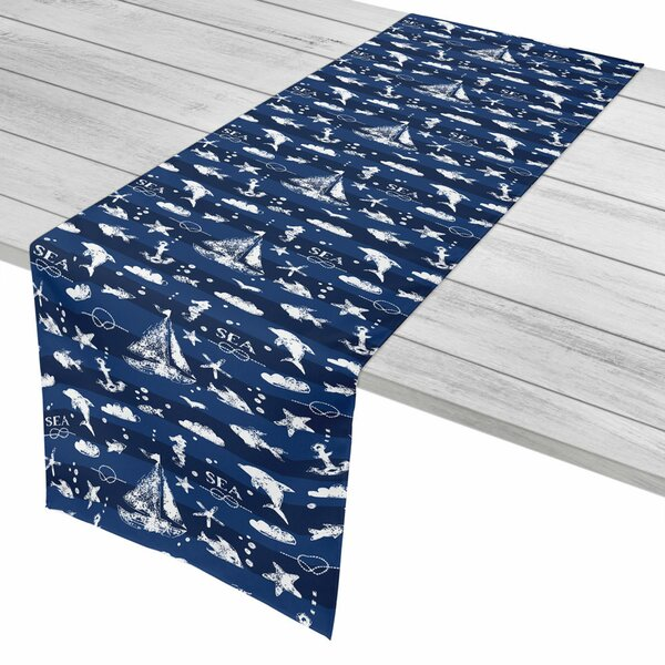 Nautical Blue Sea Mix Table Runner by Island Girl Home