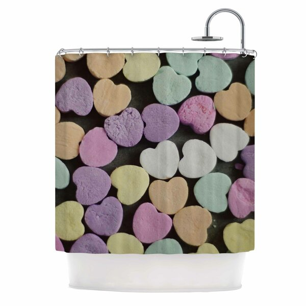 Cristina Mitchell Candy Love Photography Shower Curtain by East Urban Home