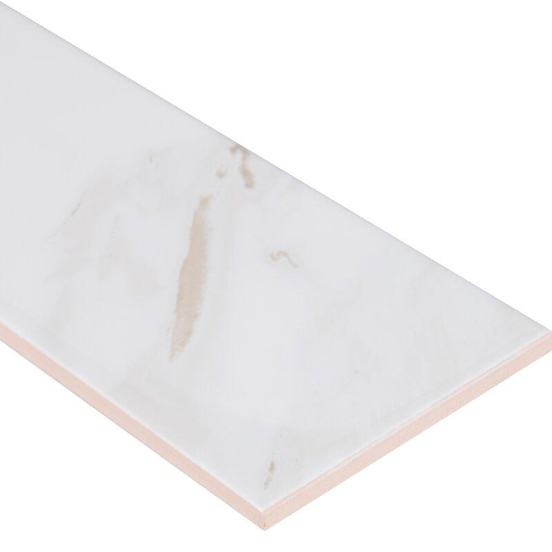 Clique Calacatta 4 X 16 Ceramic Tile
