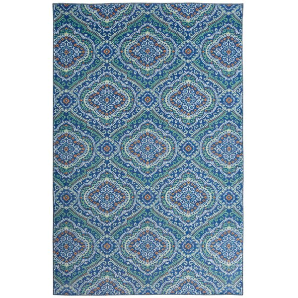 Amblewood Blue/Green Area Rug by Bungalow Rose