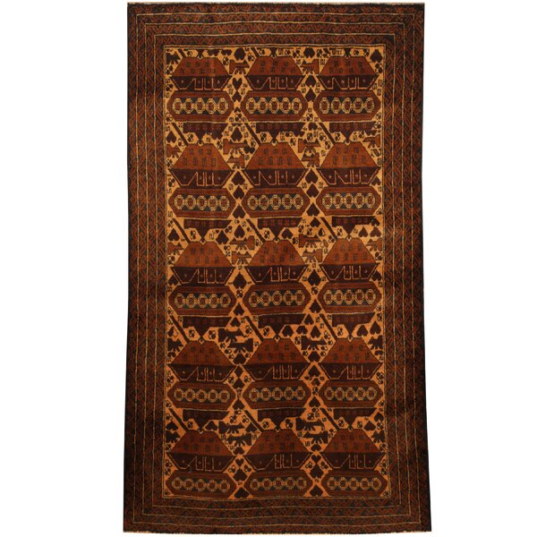Prentice Tribal Balouchi Hand-Knotted Ivory/Navy Area Rug by Isabelline