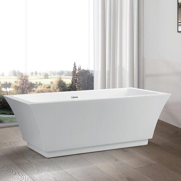 59 x 29.5 Freestanding Soaking Bathtub by Vanity Art