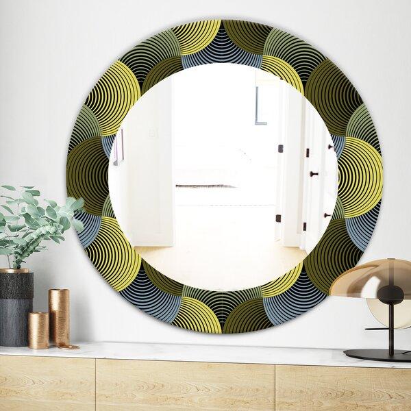 Ornate Geometric Petals Grid Wall Mirror