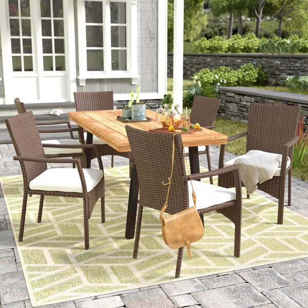 Kissena 7 Piece Teak Dining Set by Zipcode Design