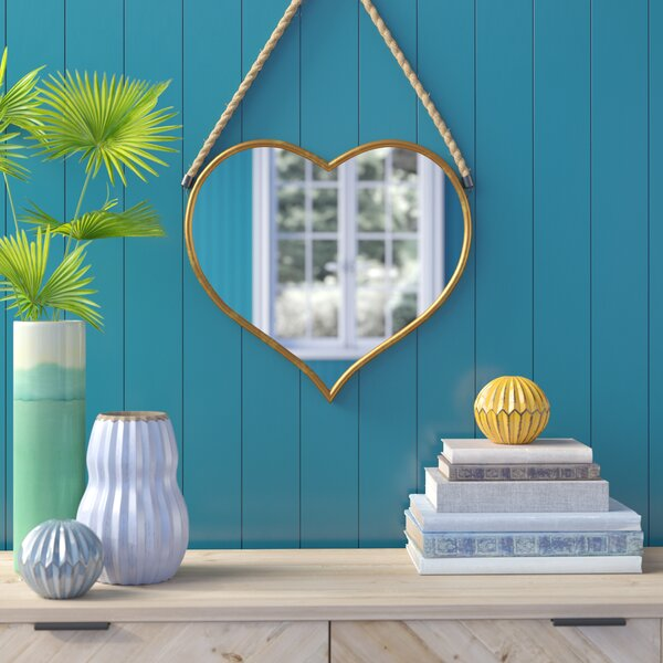Earnest Heart Accent Wall Mirror by Bungalow Rose