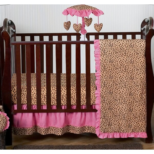 Cheetah Girl 4 Piece Crib Bedding Set by Sweet Jojo Designs