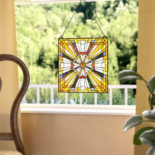 Stained Gl Pharaoh S Jeweled Window Panel