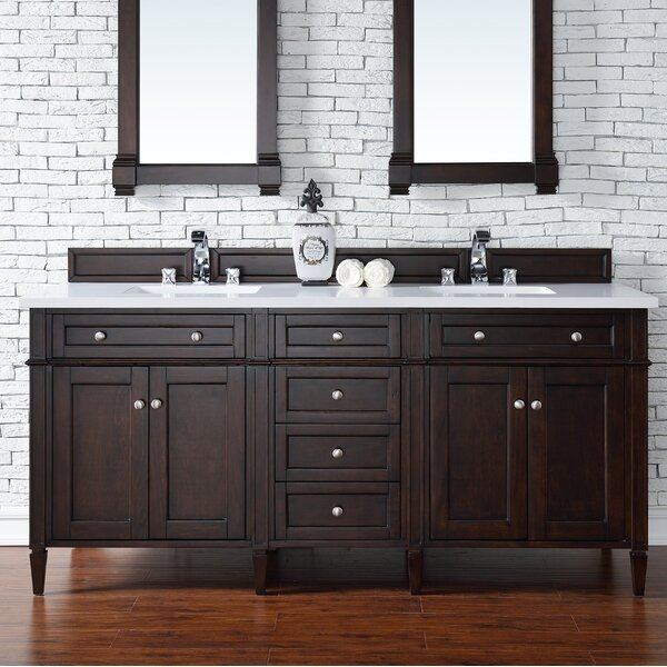 Deleon Traditional 72 Double Burnished Mahogany Bathroom Vanity Set by Darby Home Co