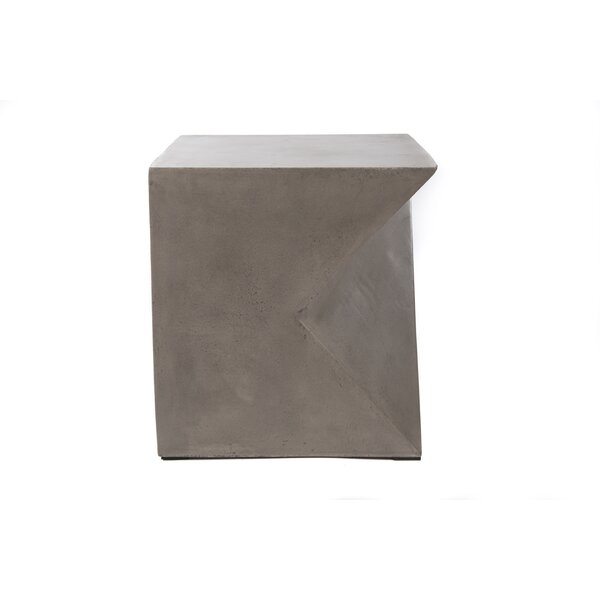 Linsey Stone/Concrete Side Table by 17 Stories