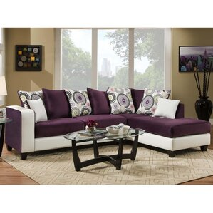Dilorenzo Modern Solid Wood Sectional  sc 1 st  Wayfair : purple sectional sofa for sale - Sectionals, Sofas & Couches