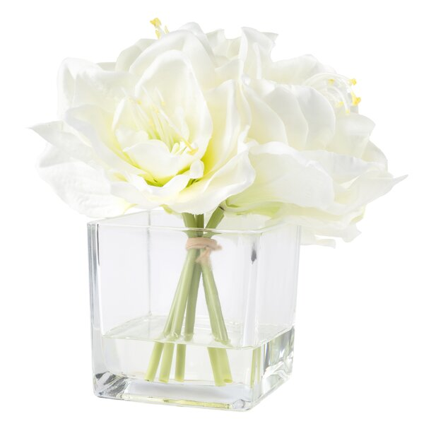 Lily Arrangement in Glass Vase by Lark Manor