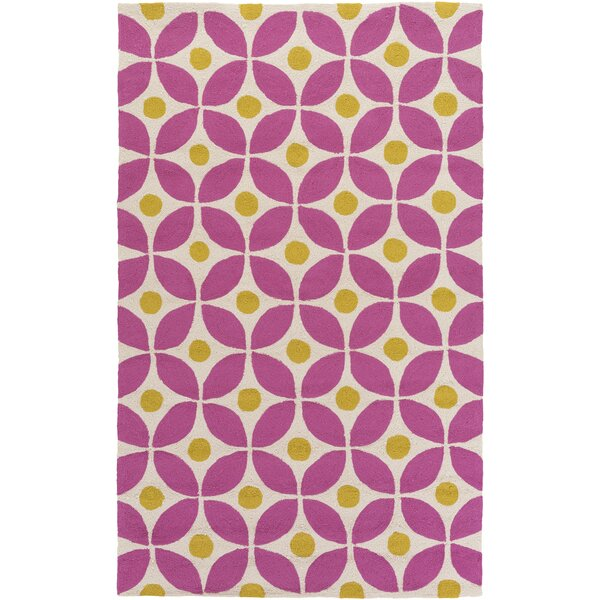 Miranda Magenta/Gold Indoor/Outdoor Area Rug by clairebella
