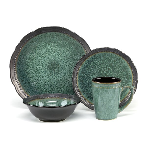 Jenna 16 Piece Dinnerware Set, Service for 4 by Cu