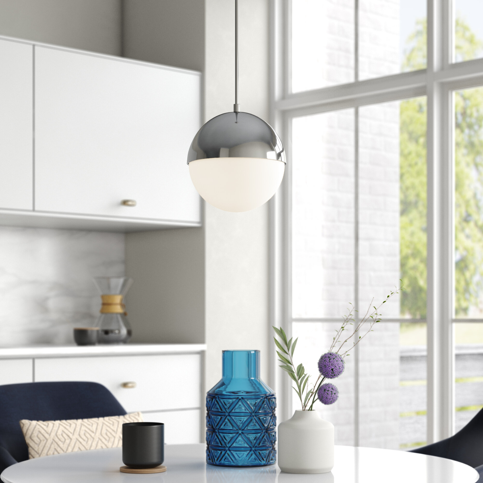 Wrought Studio Lysia 1 Light Single Globe Pendant Reviews Wayfair