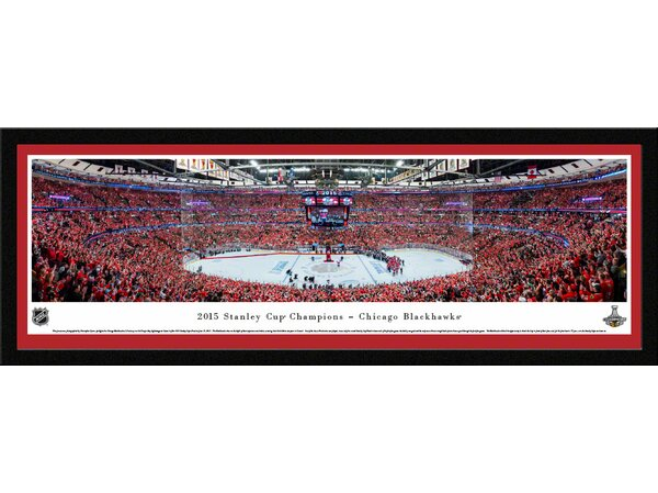 NHL 2015 Stanley Cup Champions - Chicago Blackhawks by Christopher Gjevre Framed Photographic Print by Blakeway Worldwide Panoramas, Inc