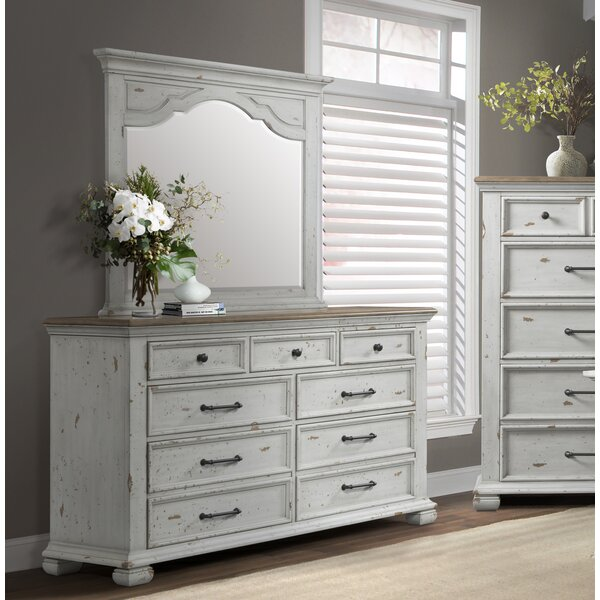 Schutz 7 Drawer Dresser with Mirror by Gracie Oaks