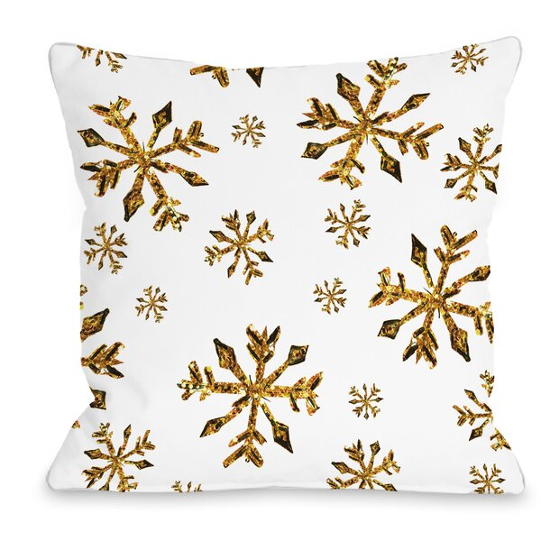 Snowflake Throw Pillow by One Bella Casa