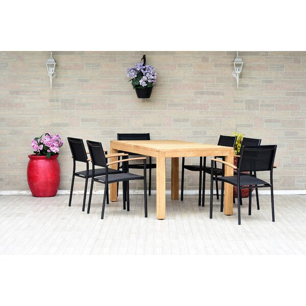 Thibodaux 7 Piece Teak Dining Set (Set of 7) by Brayden Studio