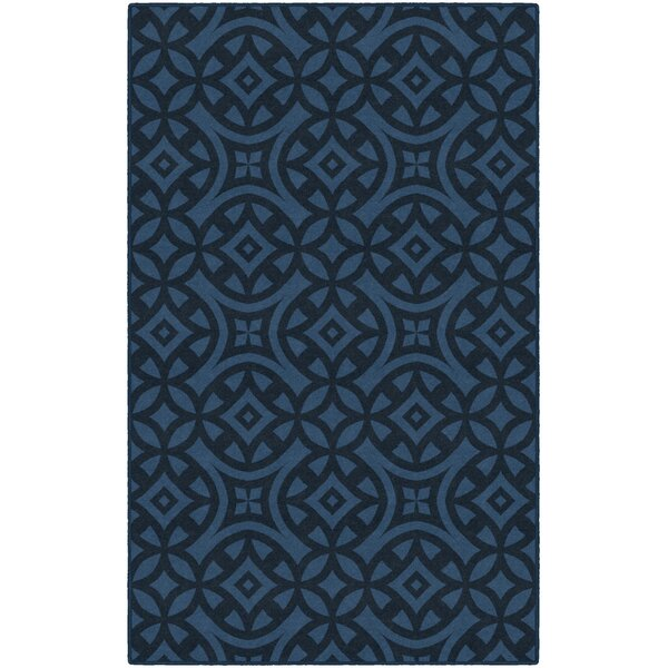 Melendez Trellis Blue Area Rug by World Menagerie