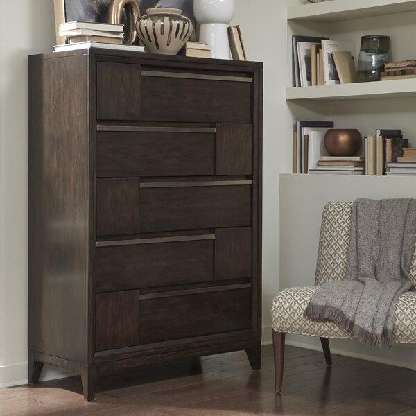 Swinton Wood 5 Drawer Chest by Modern Rustic Interiors