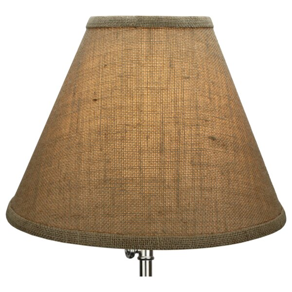 9 H x 12 W Linen Empire Lamp Shade ( Spider ) in Burlap Natural