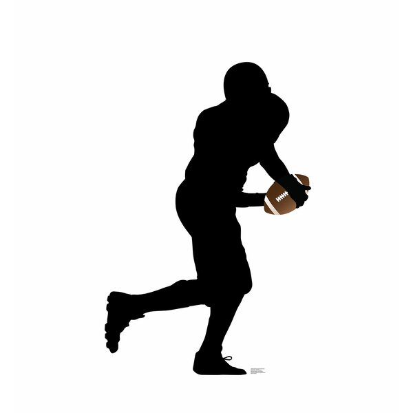 Football Player Running Silhouette Standup by Advanced Graphics