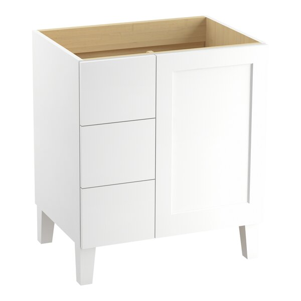 Poplin™ 30 Vanity with Furniture Legs, 1 Door and 3 Drawers on Left by Kohler